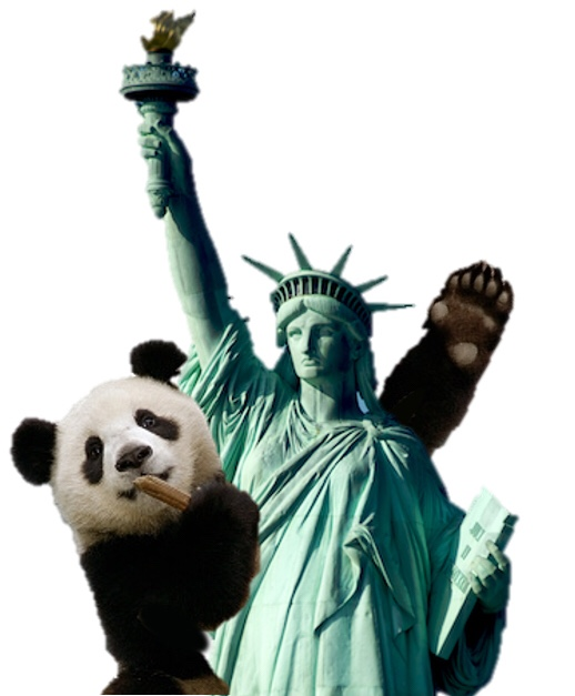 Symbols of USA and China